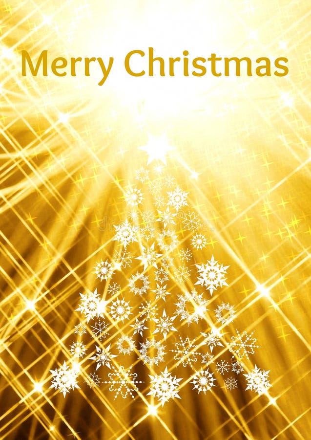 Tarjeta de Navidad de oro stock de ilustración