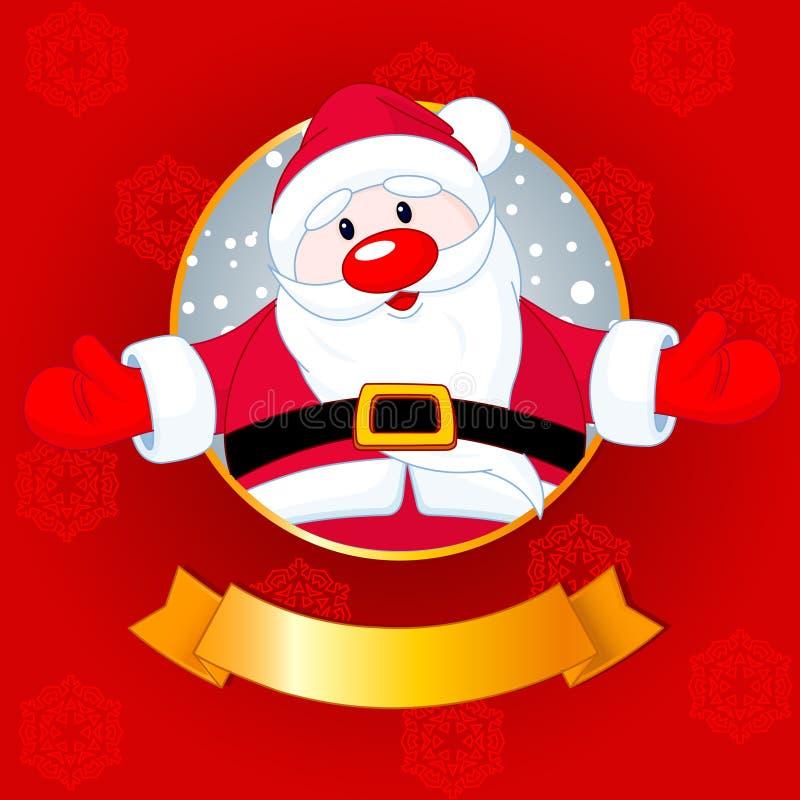 Tarjeta de Navidad de Santa ilustración del vector