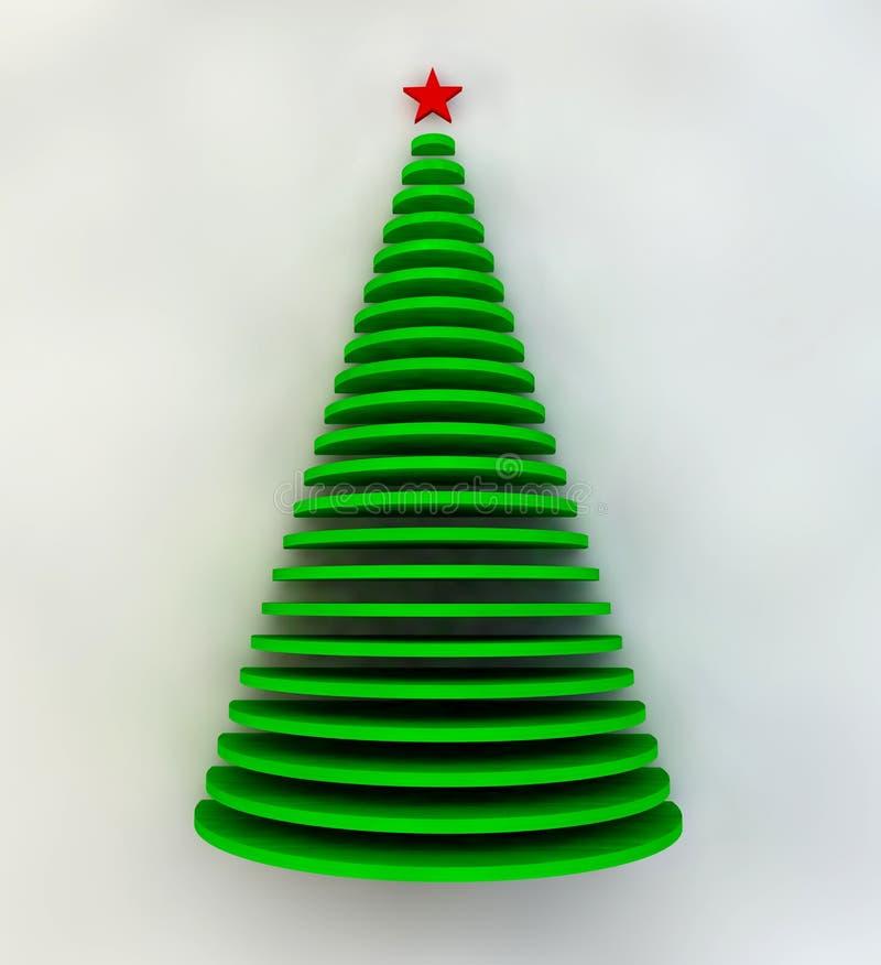 Tarjeta de Navidad del saludo, día de fiesta, madera, abeto stock de ilustración