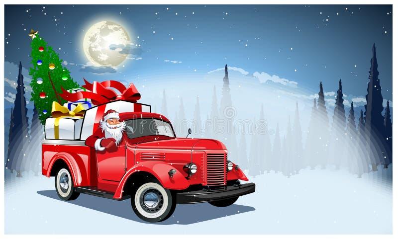 Tarjeta de Navidad del vector ilustración del vector