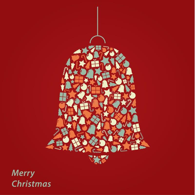 Tarjeta de Navidad del vector. Fondo moderno del cuadrado de la Navidad en fre ilustración del vector