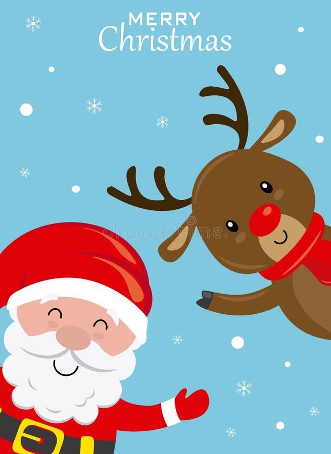 Tarjeta de Navidad divertida libre illustration