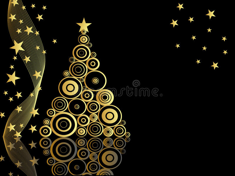 Tarjeta de Navidad elegante libre illustration