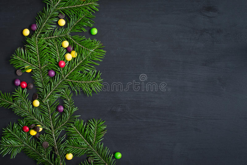 Tarjeta de Navidad Espacio para el texto imagenes de archivo