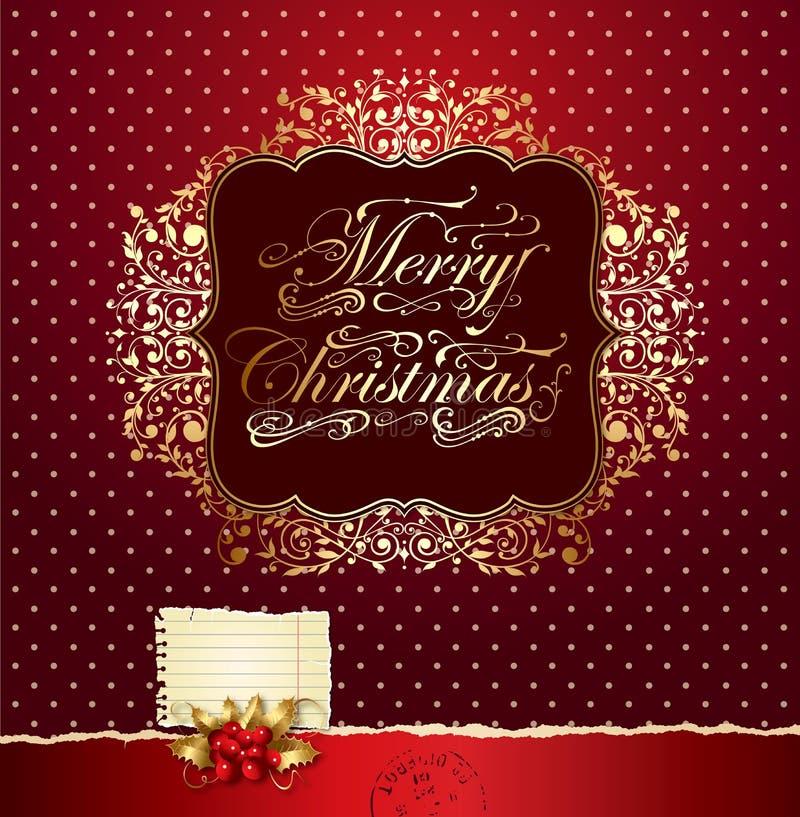 Tarjeta de Navidad festiva colorida ilustración del vector
