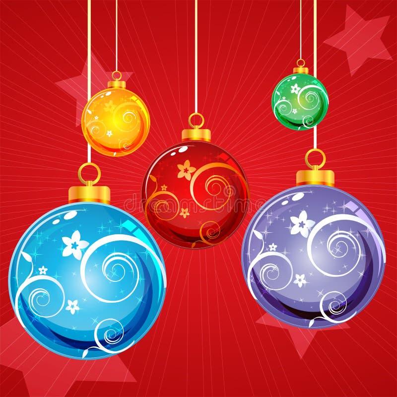 Tarjeta de Navidad floral abstracta libre illustration