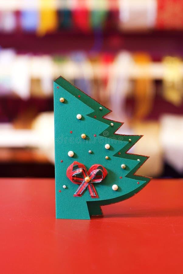 Tarjeta de Navidad hecha a mano foto de archivo libre de regalías