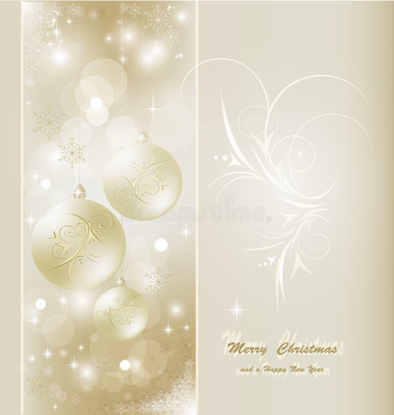 Tarjeta de Navidad hermosa ilustración del vector