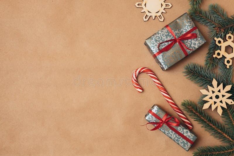 Tarjeta de Navidad de la vendimia   imagen de archivo