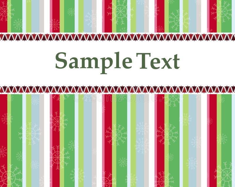 Tarjeta de Navidad o invitación con los árboles coloridos stock de ilustración