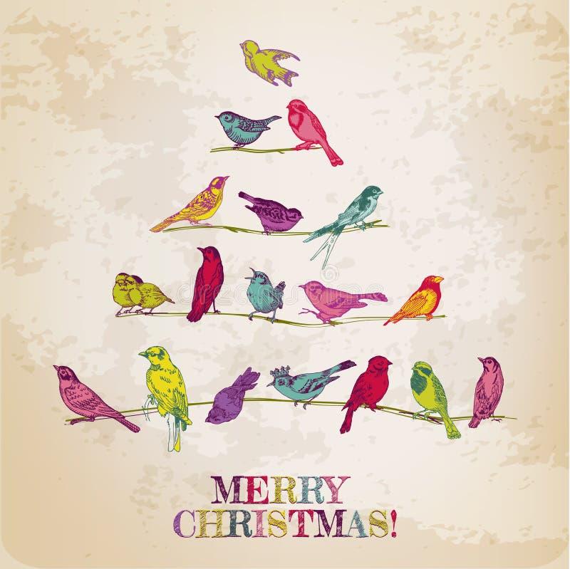 Tarjeta de Navidad retra libre illustration