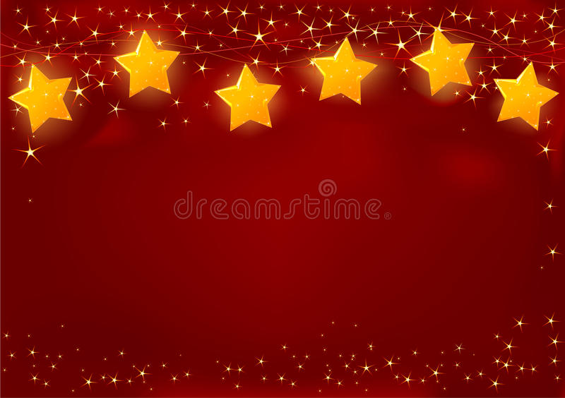 Tarjeta de Navidad roja ilustración del vector
