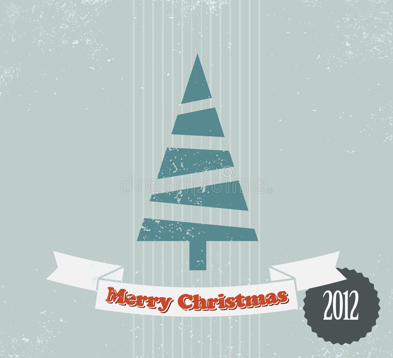 Tarjeta de Navidad simple de la vendimia libre illustration