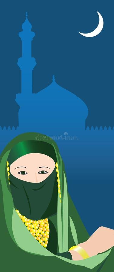 Tarjeta de Oriente Medio ilustración del vector