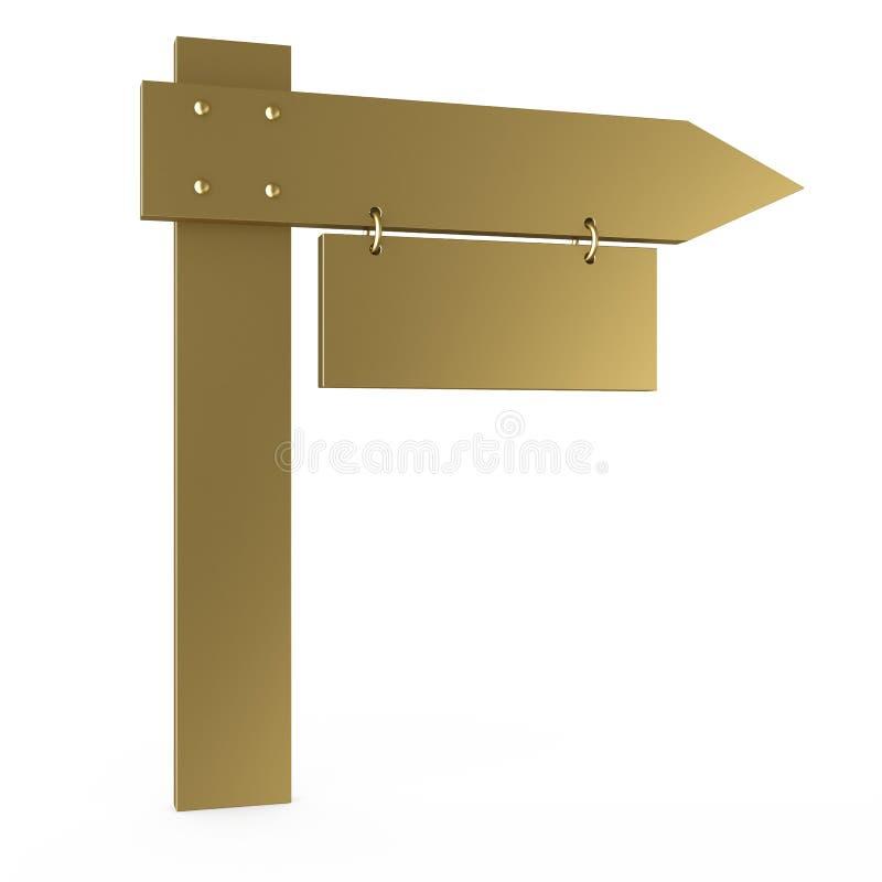 Tarjeta de oro stock de ilustración