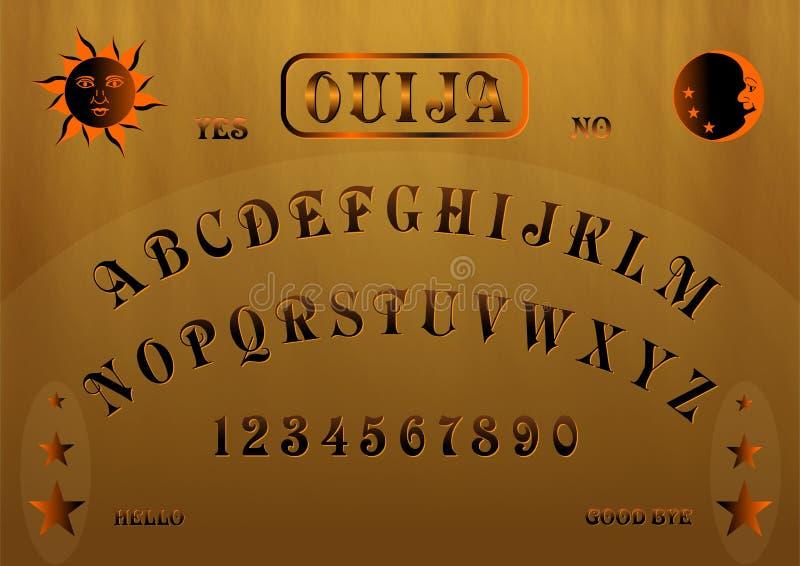 Tarjeta de Ouija ilustración del vector