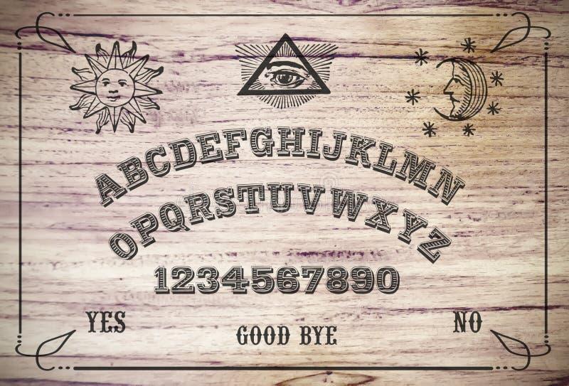 Tarjeta de Ouija imagen de archivo