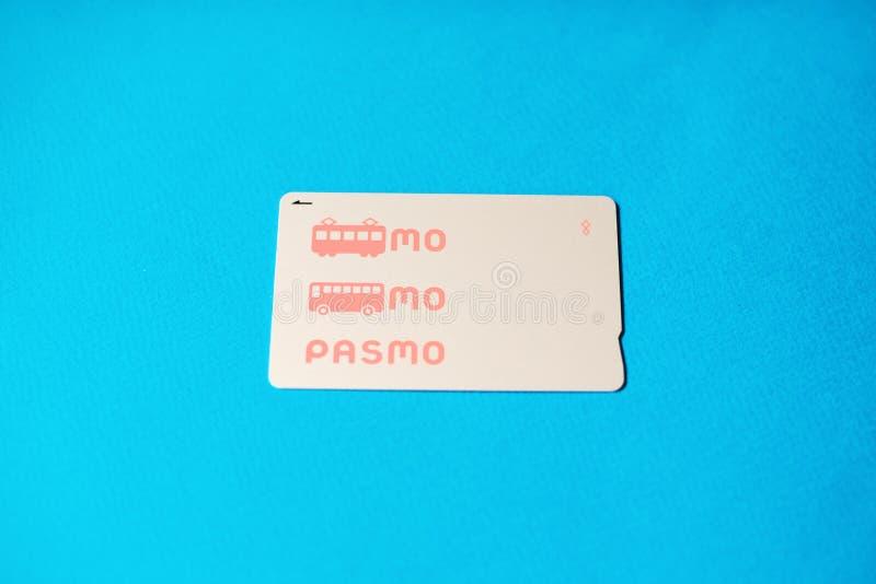 Tarjeta de pago Pasmo. Pasmo es un sistema de dinero electrónico, tarjeta inteligente sin contacto y recargable fotografía de archivo