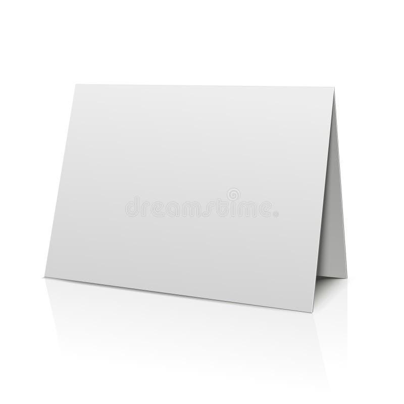 Tarjeta de papel de la carpeta en blanco aislada en blanco Modelo del vector libre illustration