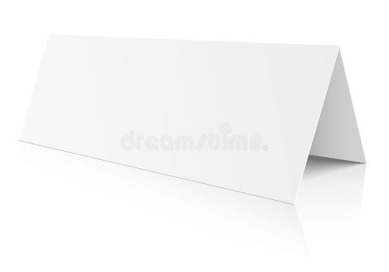 Tarjeta de papel de la tabla en blanco libre illustration