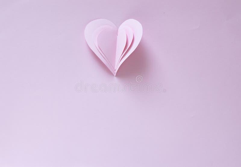 Tarjeta de papel del día de tarjetas del día de San Valentín de los corazones imagen de archivo