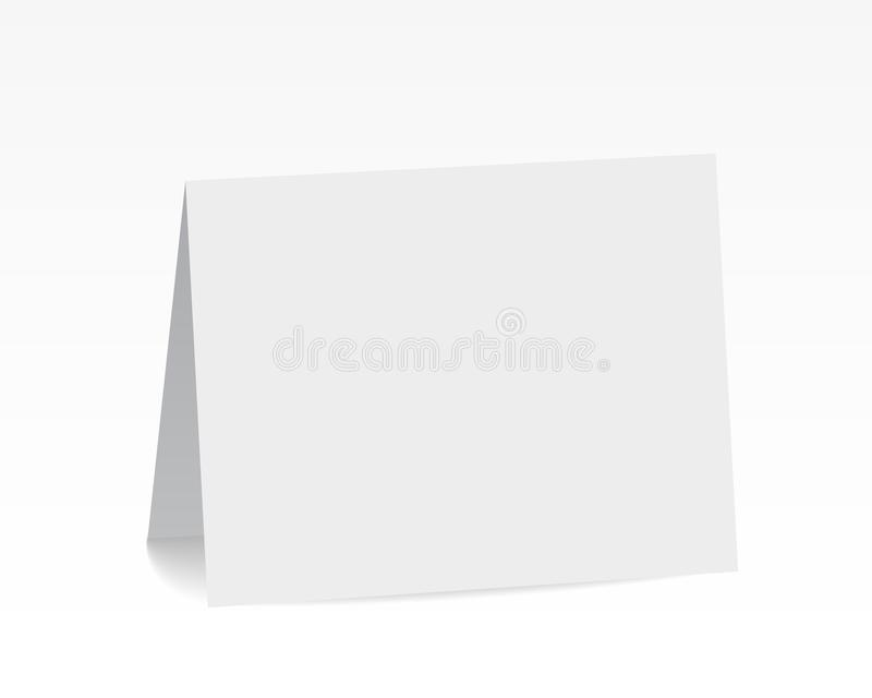 Tarjeta de papel doblada espacio en blanco blanco derecho realista ilustración del vector