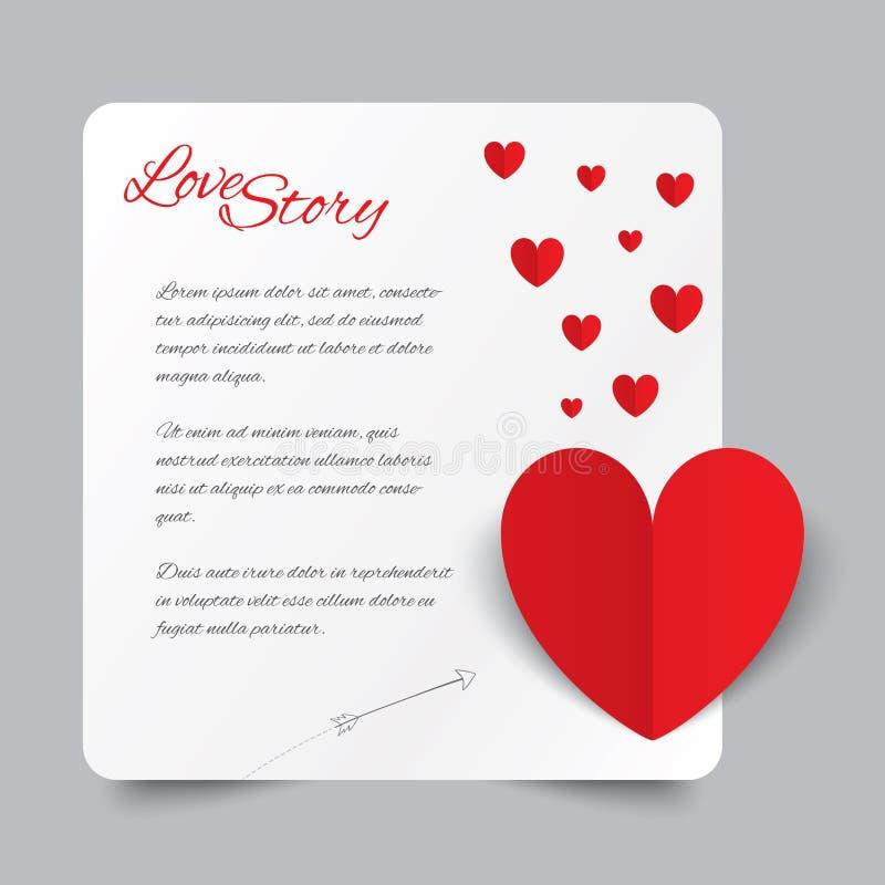 Download Tarjeta De Papel Roja Del Día De Tarjetas Del Día De San Valentín  Del Corazón