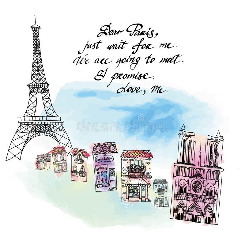 Tarjeta de París fotos de archivo libres de regalías