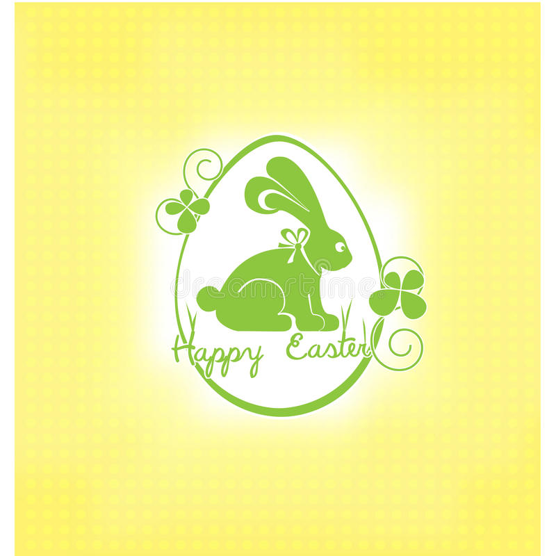 Tarjeta de pascua con el conejo libre illustration