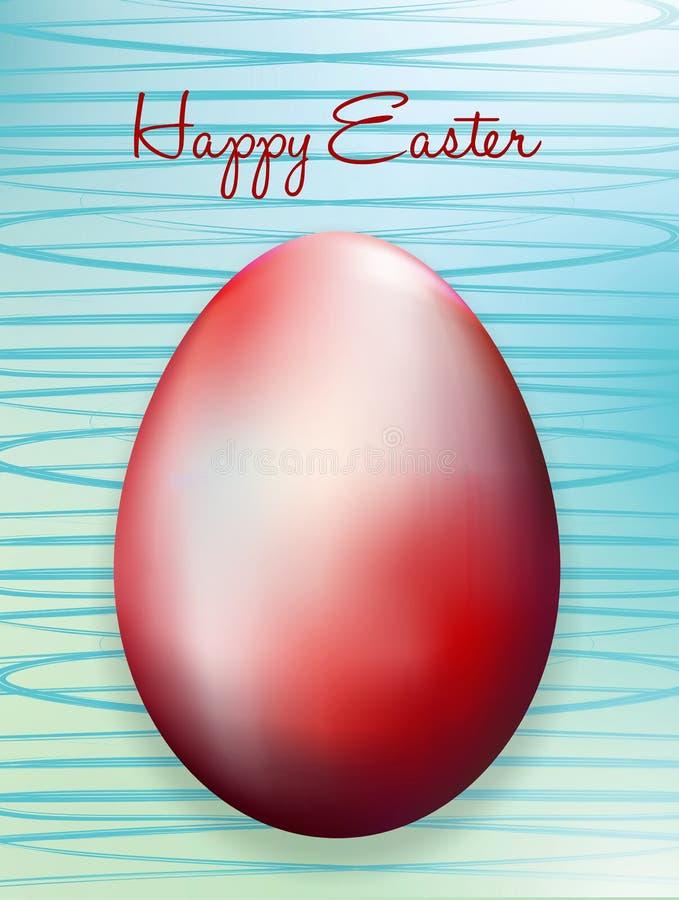Tarjeta de pascua con los huevos de Pascua stock de ilustración