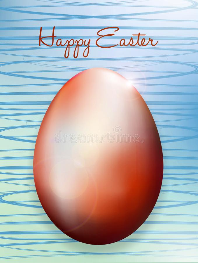 Tarjeta de pascua con los huevos de Pascua libre illustration