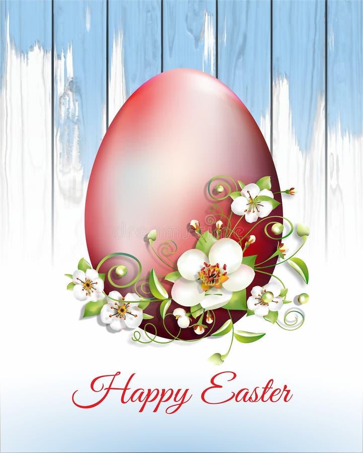 Tarjeta de pascua con los huevos de Pascua ilustración del vector