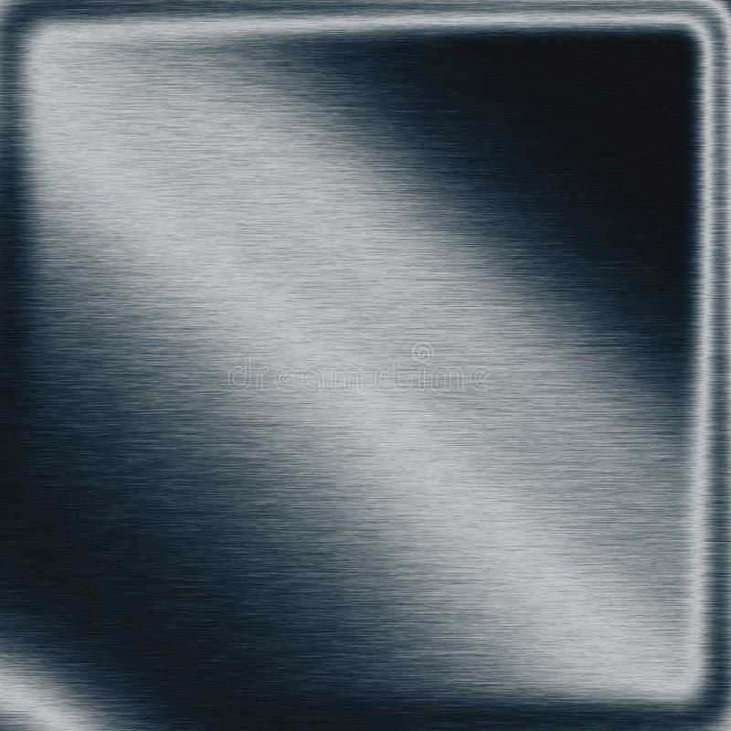 Tarjeta de placa oscura de la textura del fondo del metal de los azules marinos como frontera moderna del marco libre illustration