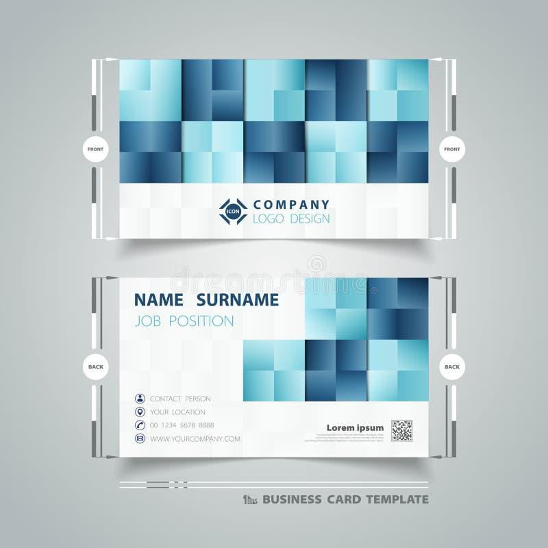 Tarjeta de presentación azul cuadrada del negocio del diseño de la tecnología del modelo de los colores del extracto vector eps10 stock de ilustración