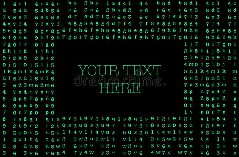 Tarjeta de presentación de fondo de matriz su texto aquí ilustración del vector