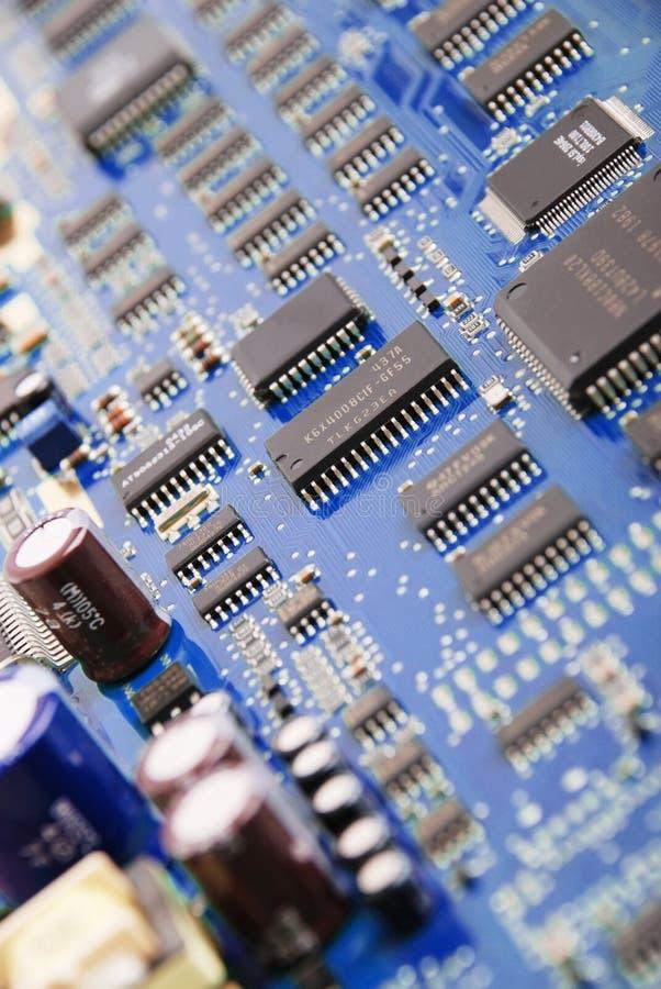 Tarjeta de sistema electrónica imagen de archivo
