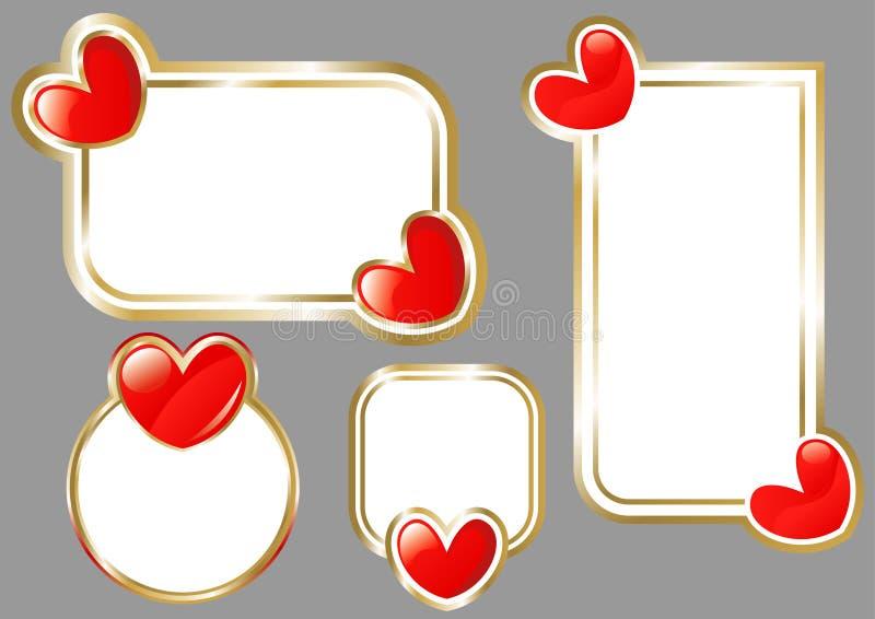 Tarjeta de St.Valentine ilustración del vector