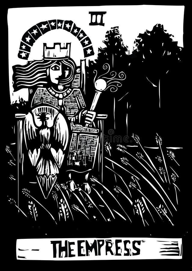 Tarjeta de Tarot de la emperatriz ilustración del vector