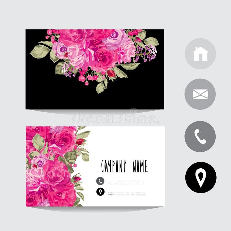 Tarjeta de visita stock de ilustración