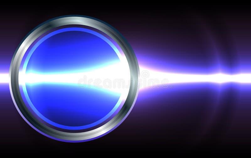 Tarjeta de visita abstracta de la lente del efecto luminoso EPS10 ilustración del vector