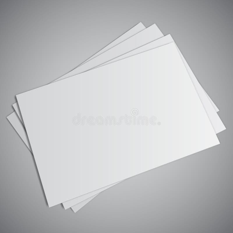 Tarjeta de visita blanca ilustración del vector
