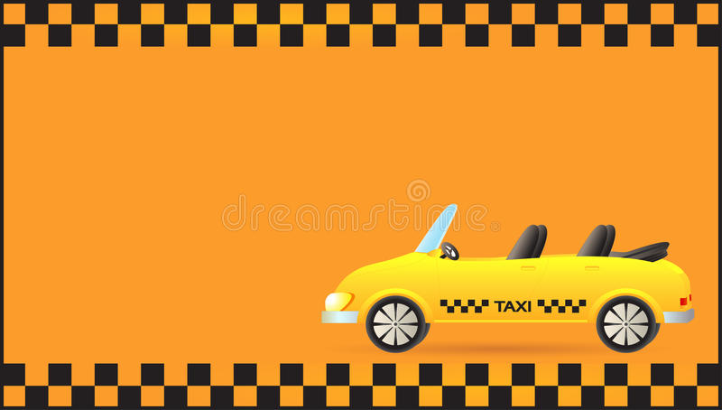 Tarjeta de visita con el cabriolé del coche del taxi libre illustration