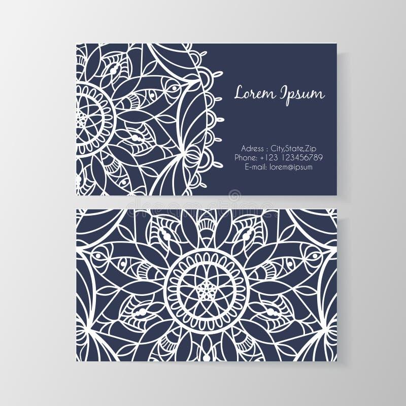 Tarjeta de visita con el estampado de flores moderno elegante libre illustration