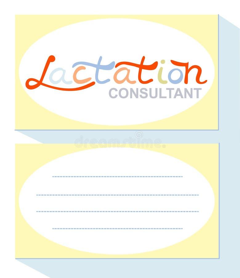 Tarjeta de visita, consultor de la lactancia stock de ilustración