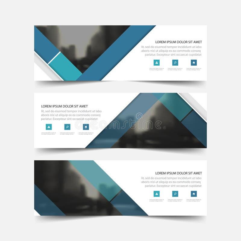 Tarjeta de visita corporativa azul del círculo, plantilla de la tarjeta de presentación, plantilla limpia simple horizontal del d ilustración del vector
