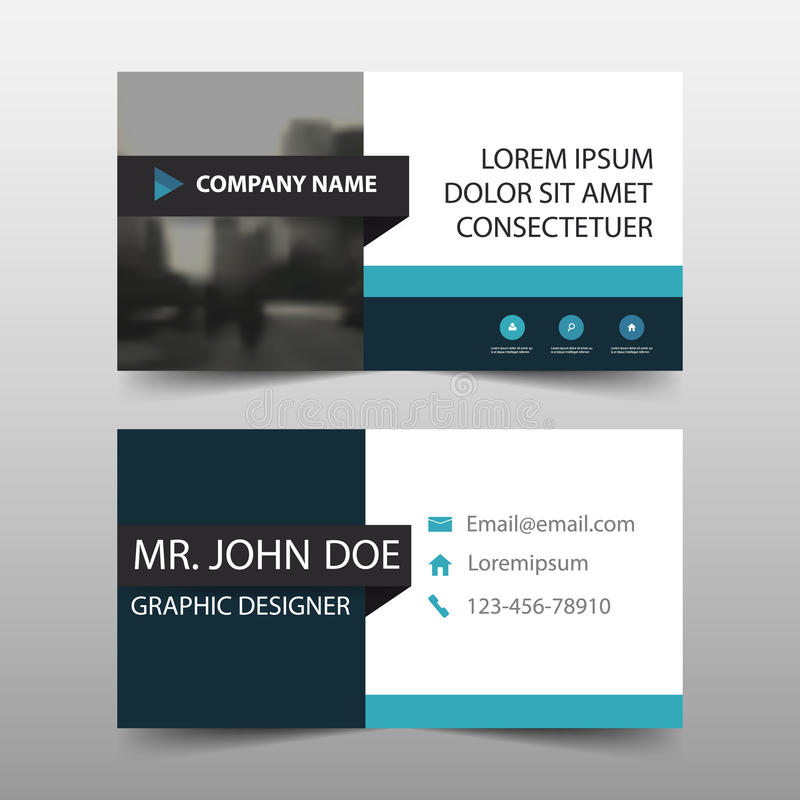 Tarjeta de visita corporativa, plantilla de la tarjeta de presentación, plantilla limpia simple horizontal del diseño de la dispo stock de ilustración