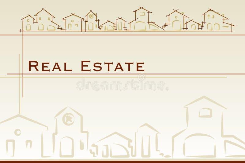 Tarjeta de visita de las propiedades inmobiliarias stock de ilustración