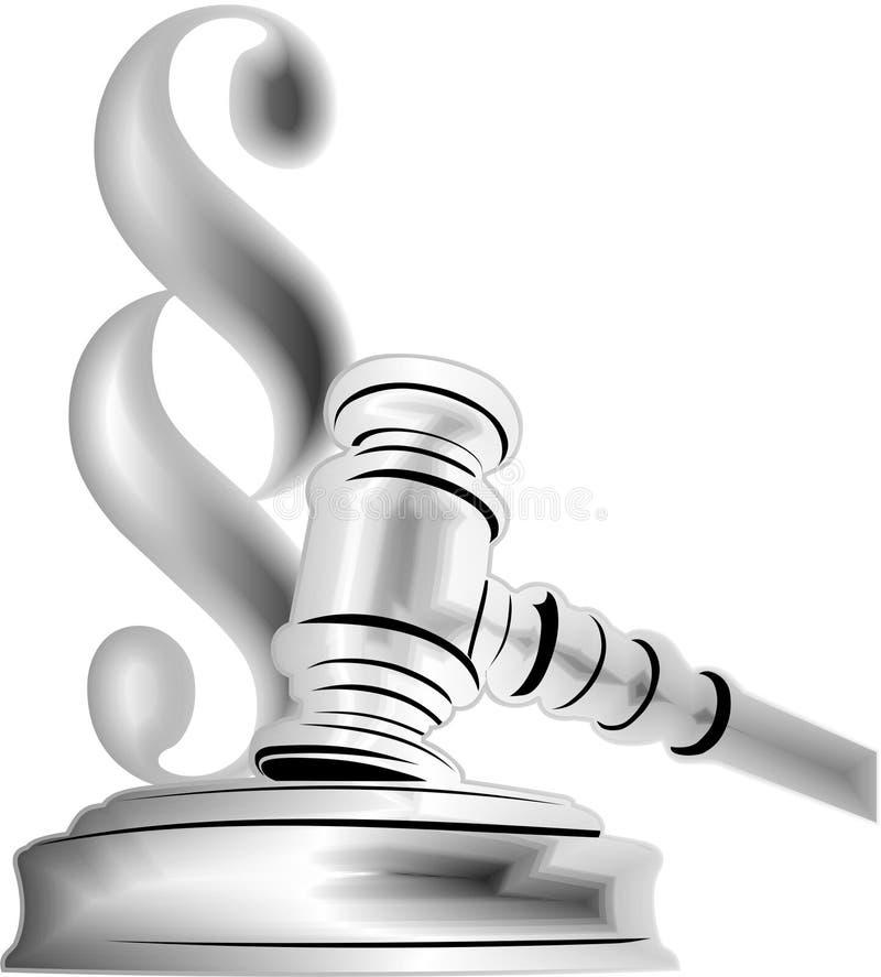 tarjeta de visita del abogado ilustración del vector