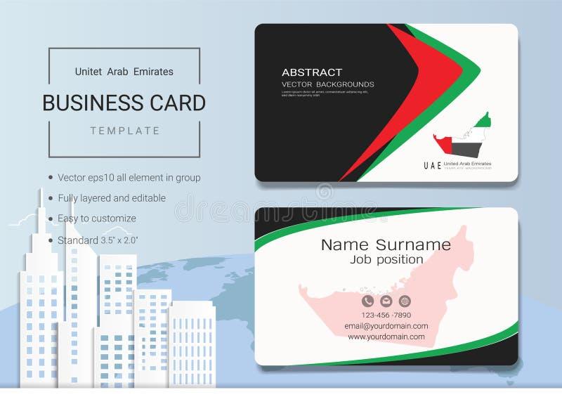 Tarjeta de visita del extracto de los UAE o plantilla de la tarjeta de presentación libre illustration
