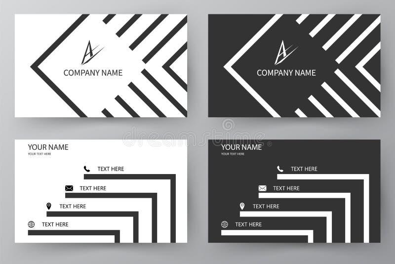 Tarjeta de visita del vector Tarjeta de visita para el negocio y el uso personal Tarjeta moderna de la presentación Diseño del ej libre illustration